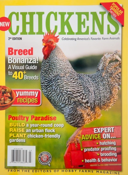 Popular Farming Chickens magazine, cover