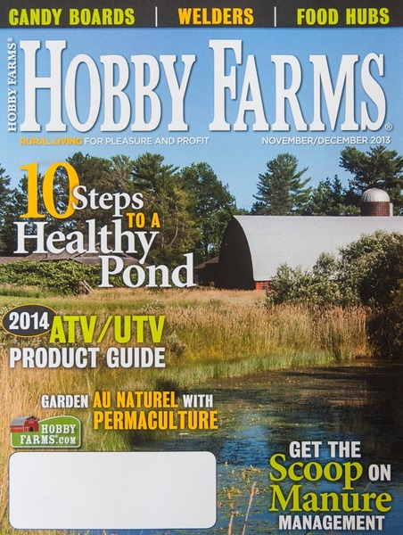 Cover, Hobby Farms magazine Nov/Dec 2013