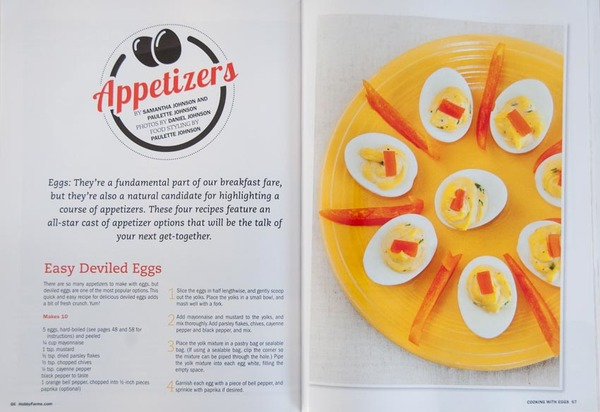 """Cooking with Eggs"" magazine, interior photos and articles"