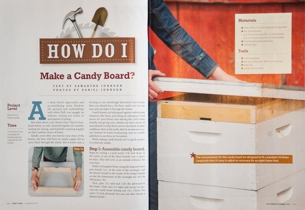 Hobby Farms magazine Nov/Dec 2013 - Article and photos
