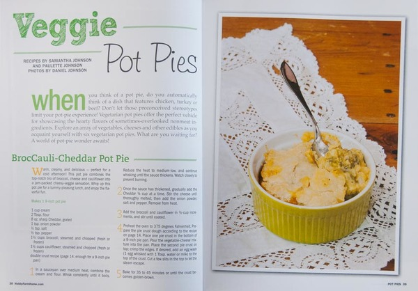 """Pot Pies"" magazine, interior photos and articles"